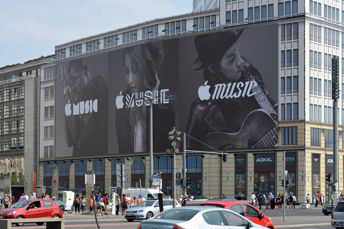 Apple Music billboard ad, Berlin 1