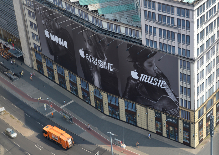 Apple Music billboard ad, Berlin 2