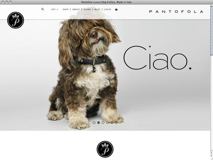 Pantofola website 1
