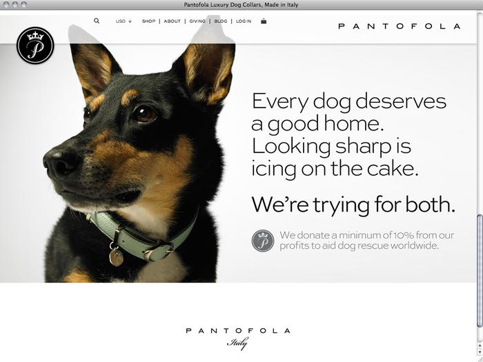 Pantofola website 2