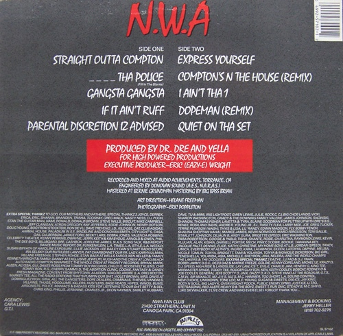 straight outta compton by n w a fonts in use