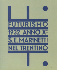 <cite>Futurismo Trentino</cite> exhibition poster