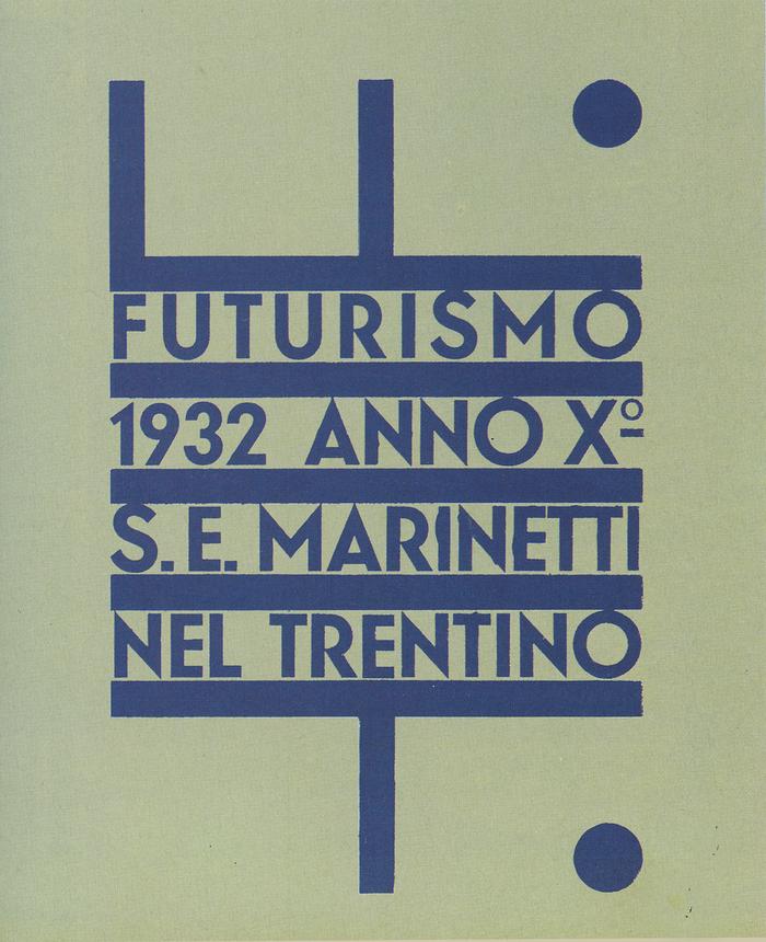 Futurismo Trentino exhibition poster