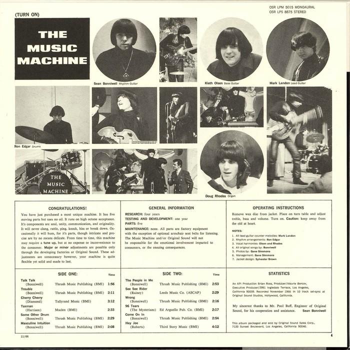 The Music Machine – Turn On album art 2