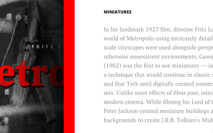 History of Movie Special Effects 2