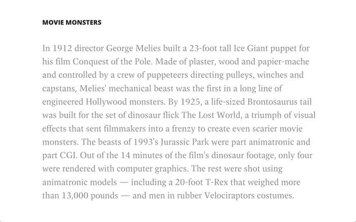 History of Movie Special Effects 4