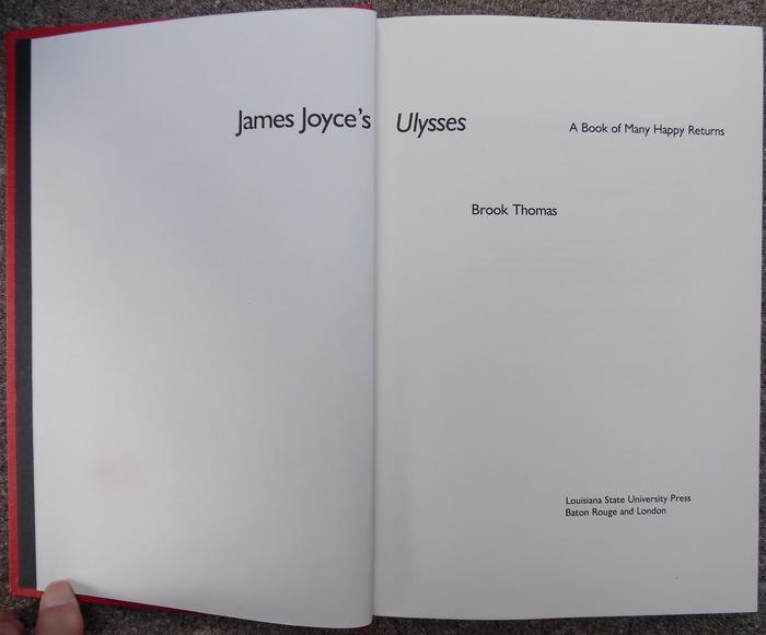 James Joyce's Ulyssesby Brook Thomas 2