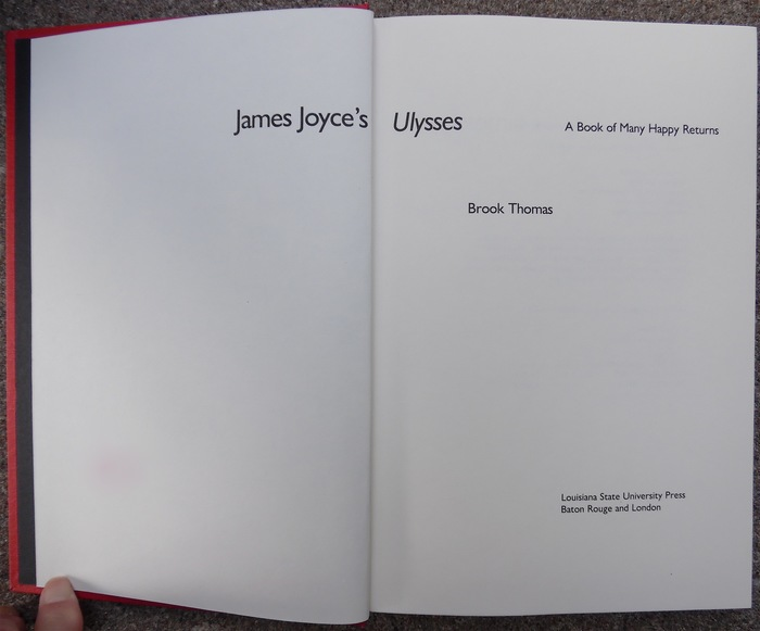 James Joyce's Ulysses by Brook Thomas 2