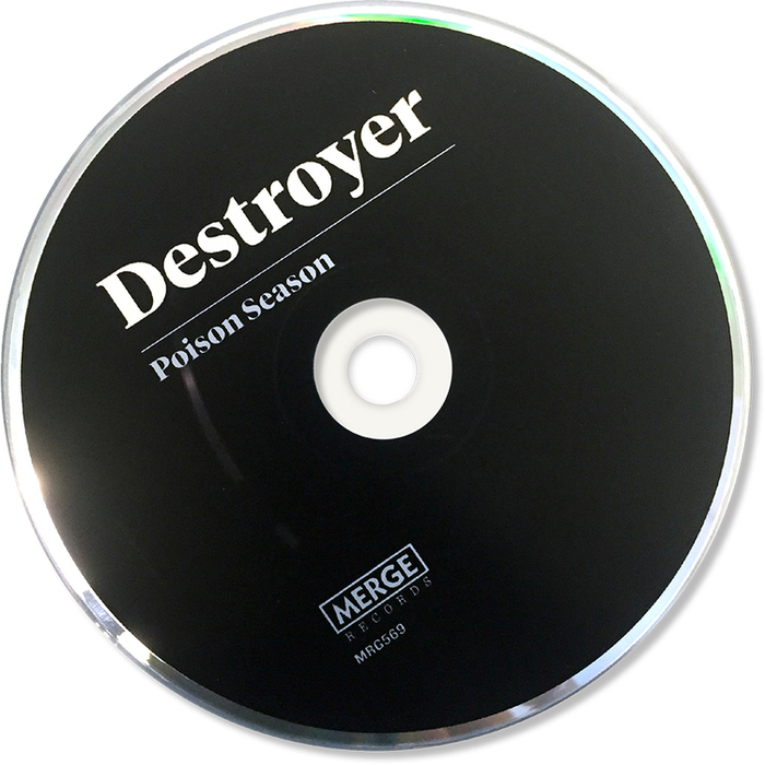 The Disc. Artist name and album title set in Tiempos.