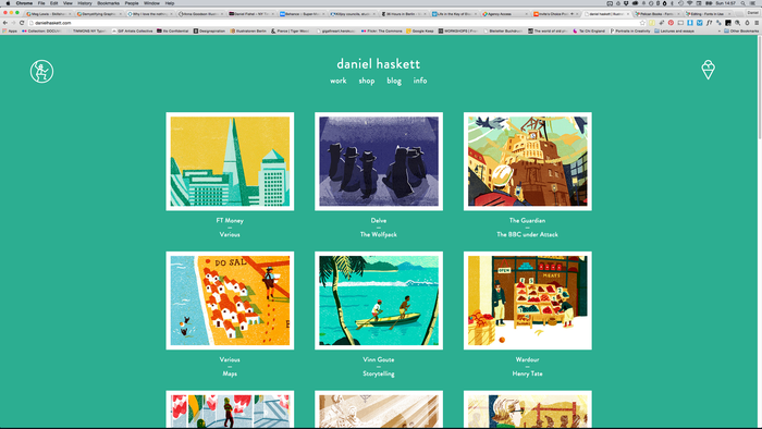 Daniel Haskett portfolio website 1