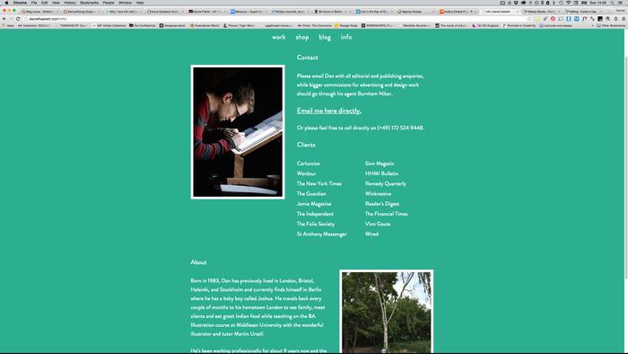 Daniel Haskett portfolio website 2