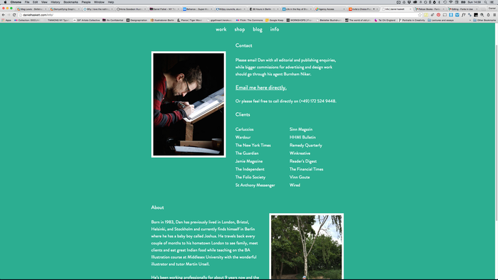 Daniel Haskett portfolio website 2