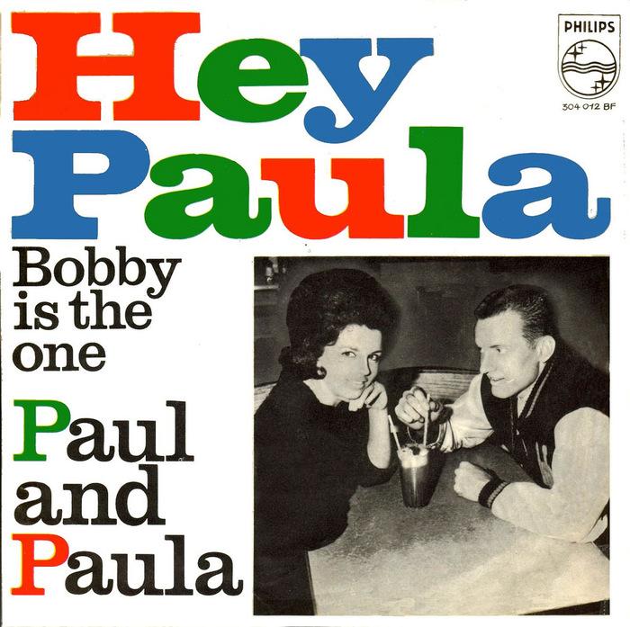 "Paul and Paula – ""Hey Paula"" and ""Young Lovers"" German single covers 1"
