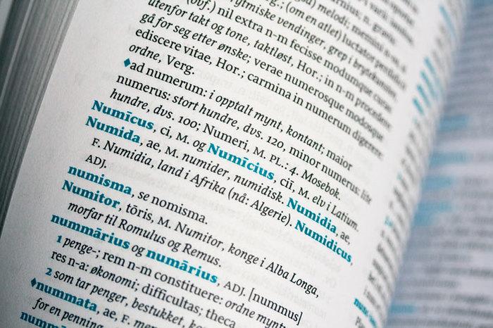Latin-Norwegian dictionary (Cappelen Damm) 5