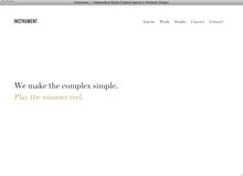 <cite>Instrument</cite> website