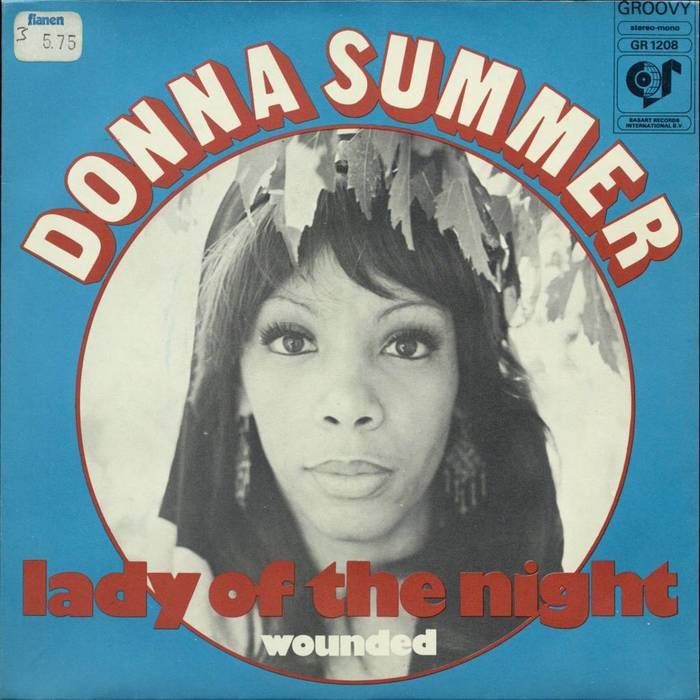 """Donna Summer – """"Lady of the Night"""" Dutch single cover"""