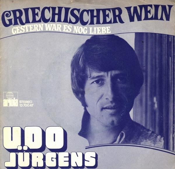 """Udo Jürgens – """"Griechischer Wein"""" Dutch single cover"""