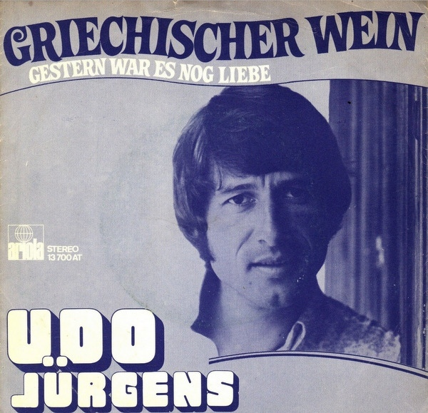 "Udo Jürgens – ""Griechischer Wein"" Dutch single cover"