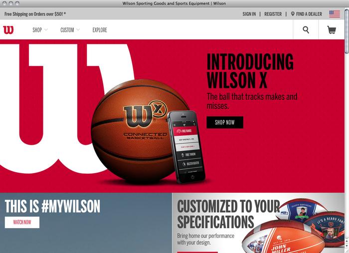 Wilson website 1