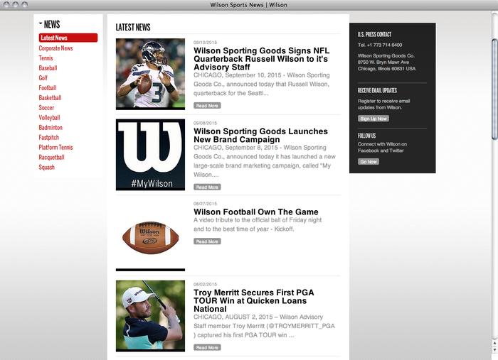 Wilson website 4