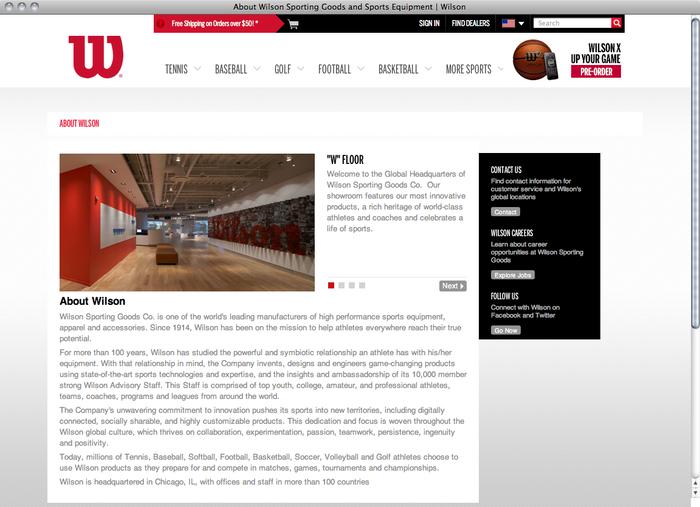 Wilson website 5