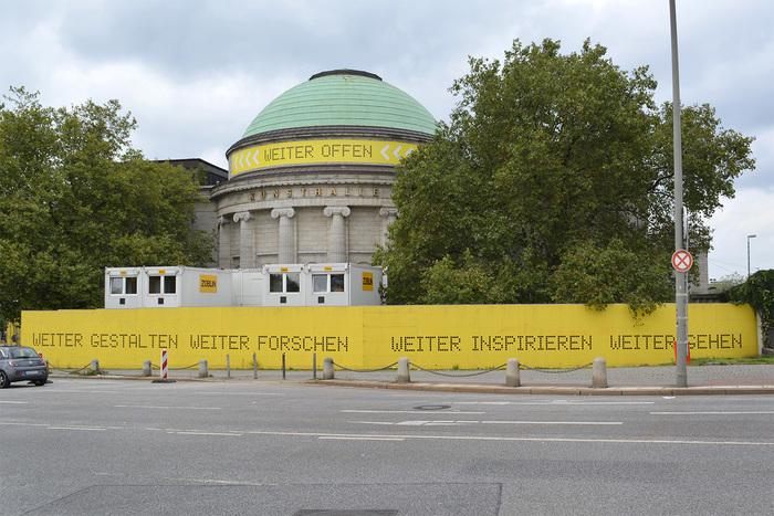 Hamburger Kunsthalle temporary signs 1