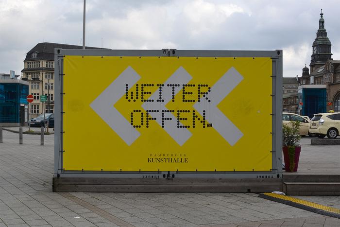 Hamburger Kunsthalle temporary signs 4
