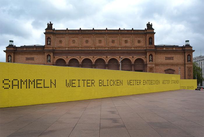 Hamburger Kunsthalle temporary signs 2