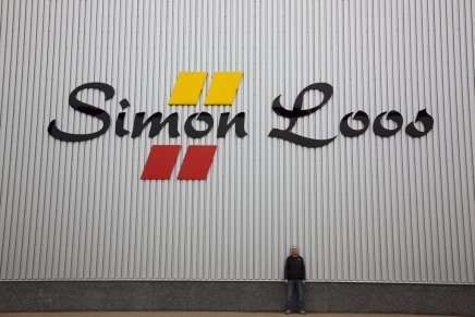 Dimensional aluminum letters at the distribution center in Tiel, produced by Designbrigade.
