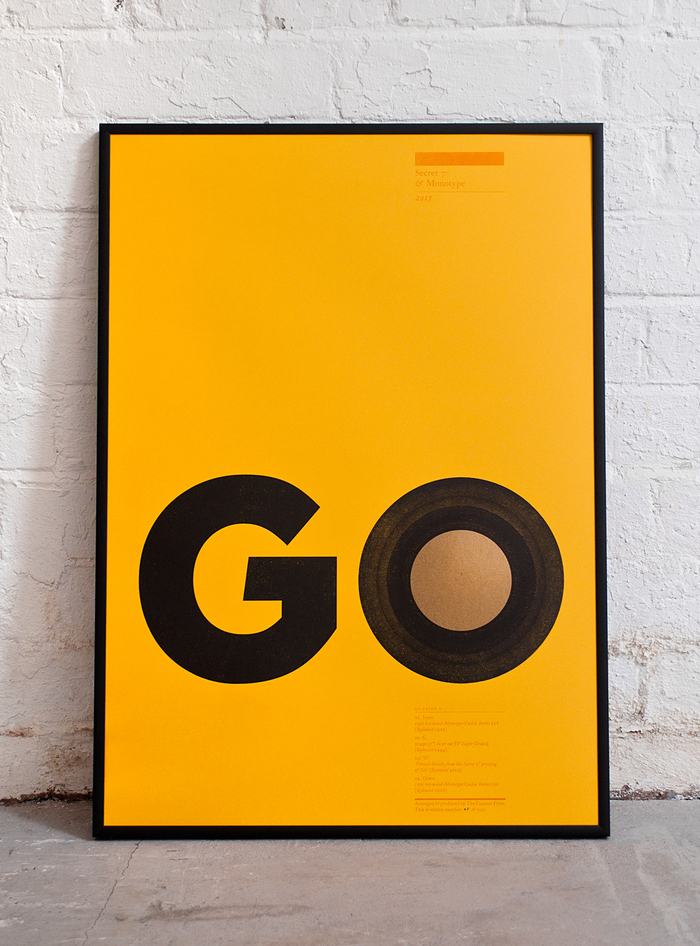 Secret 7″ poster: Go 1