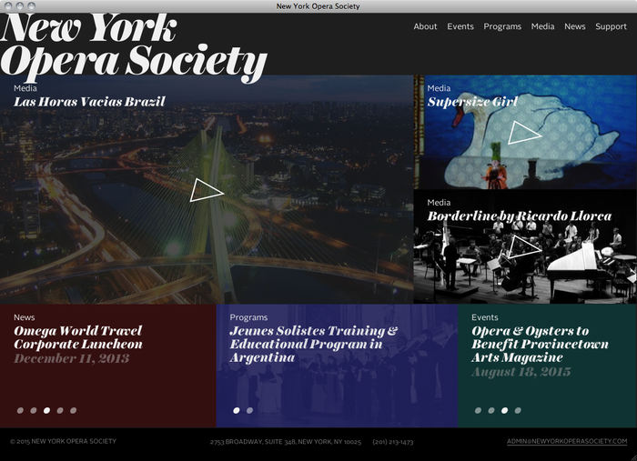 New York Opera Society website 1