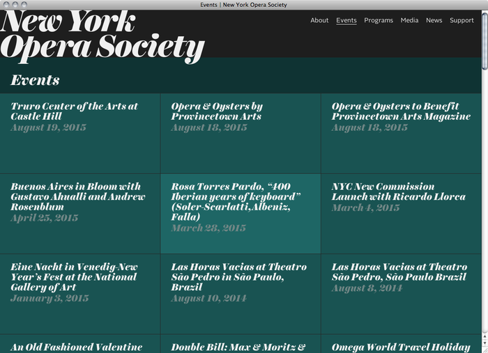 New York Opera Society website 2