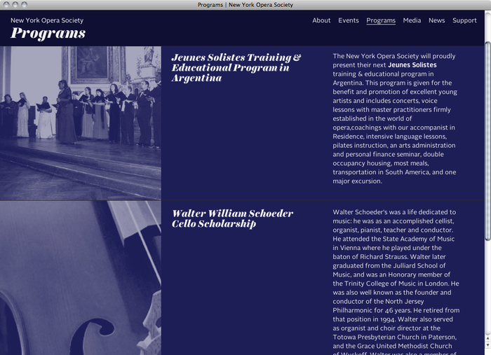 New York Opera Society website 4
