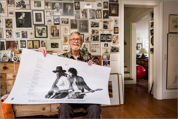 John Berg with the 40th anniversary poster.
