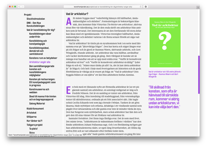 Long reads are made typographically diverse, using for example drop caps, and quotes and images seperated into the right column.