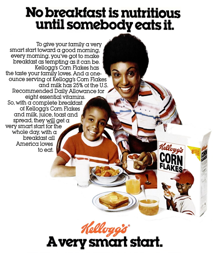 """A very smart start"" – Kellogg's Corn Flakes ad"