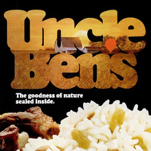 "Uncle Ben's rice ad: ""The goodness of nature sealed inside."""