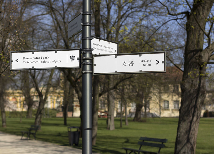 Wayfinding and visual identity system of the Wilanów Palace Museum 5