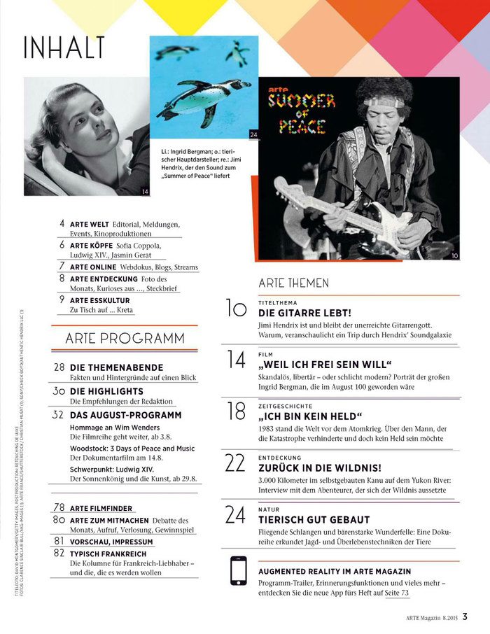 Contents of issue 8, 2015