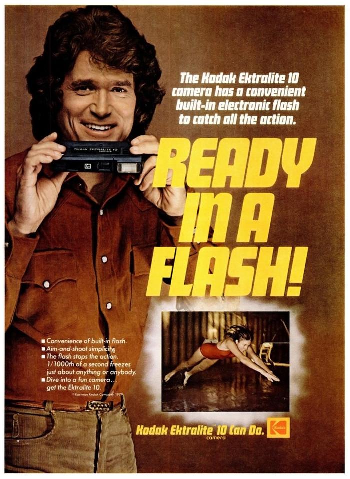 """Ready in a flash!"" — Ebony magazine, May 1979."