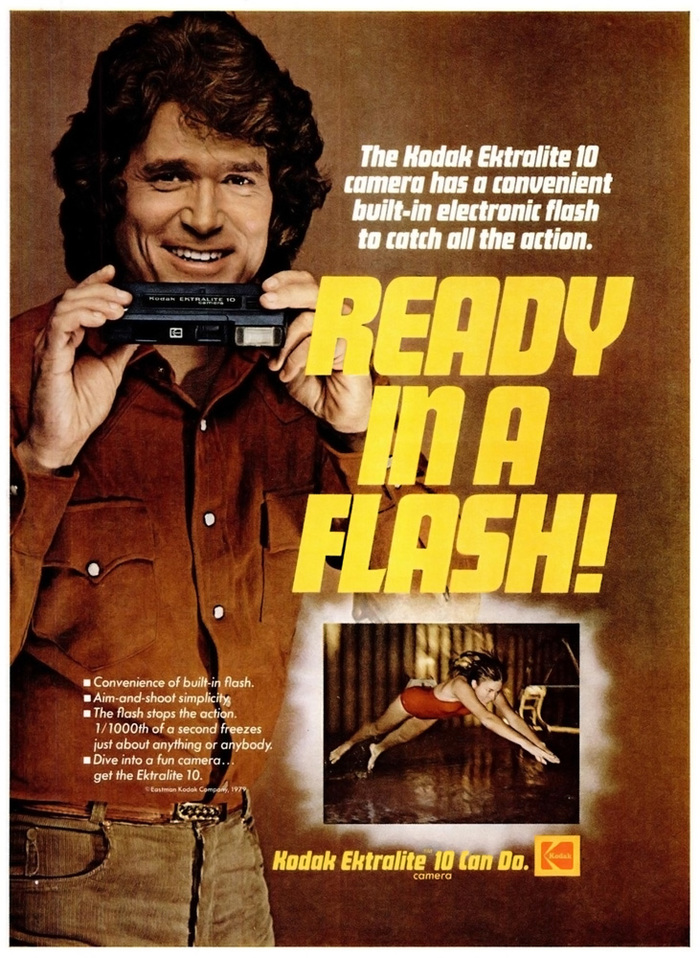 """Ready in a flash!"" — Ebony magazine, May 1979."