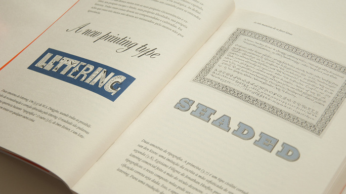 Examples of lettering by W.A. Dwiggins, Imre Reiner, and Jonathan Hoefler; a typeface cut by Hendrik van den Keere.