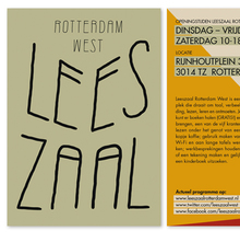 Visual identity Leeszaal Rotterdam West