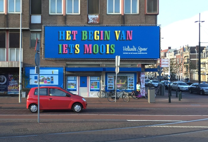 """Het begin van iets moois (The start of something beautiful)"" ""Hollands Spoor: Centrum van het Haagse studentenleven (The center of student life in The Hague)"""