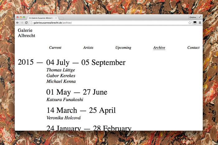 Galerie Albrecht identity 6