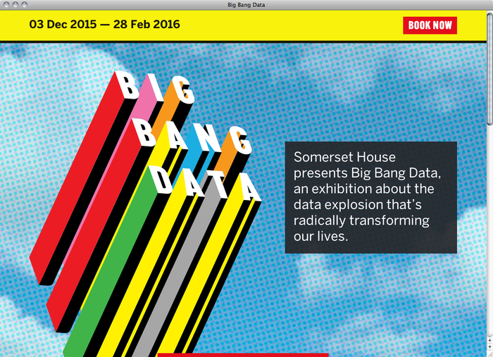Big Bang Data website 1