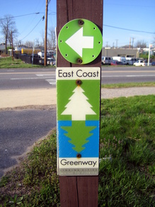 East Coast Greenway Sign