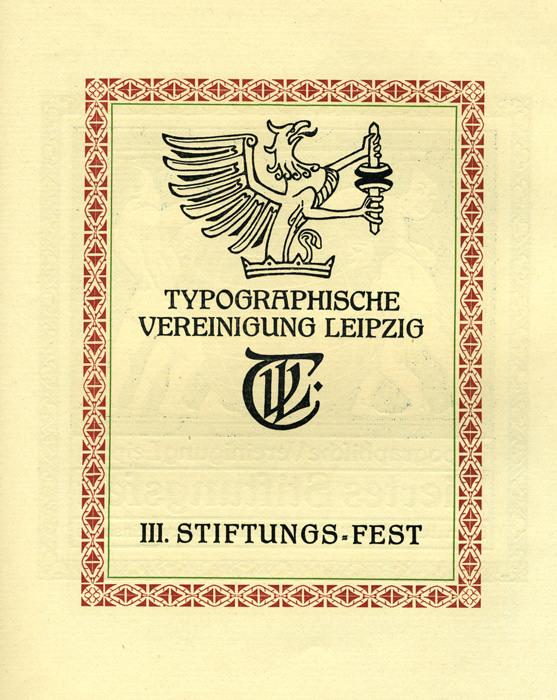 Typographische Vereinigung Leipzig, III. Stiftungs-Fest