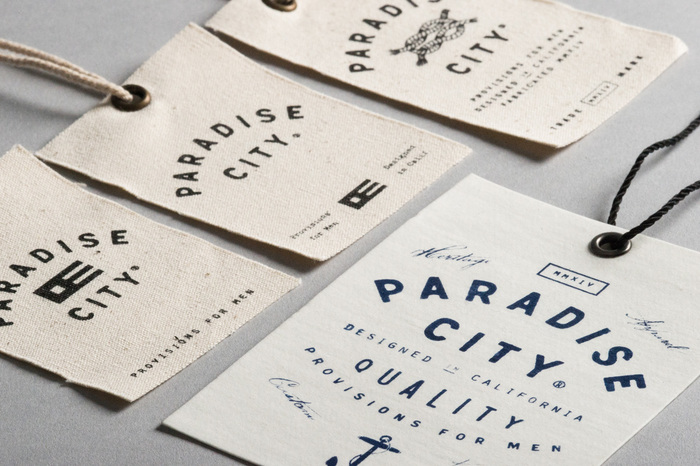 Paradise City hangtags and labels 1