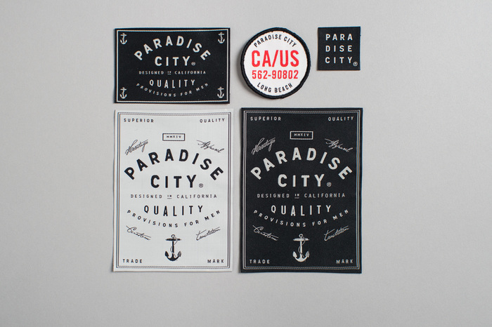 Paradise City hangtags and labels 3